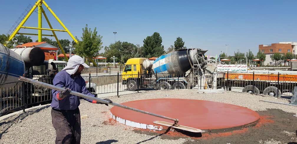 محوطه سازی بتن استامپی در استان خراسان