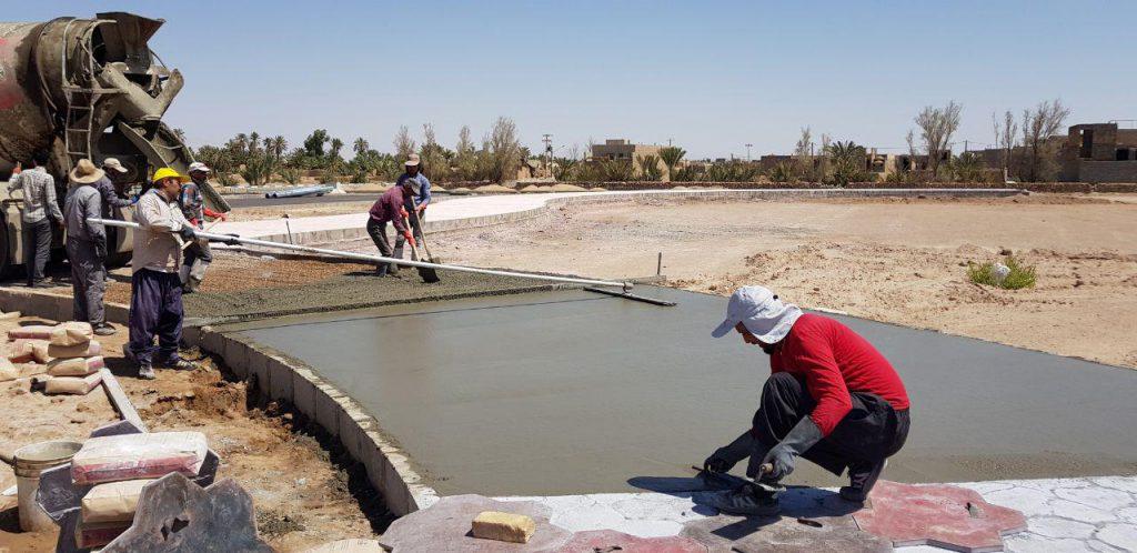 پیاده رو سازی بتن دکوراتیو در استان یزد
