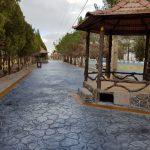 پیاده رو سازی بتن دکوراتیو پارک در استان یزد