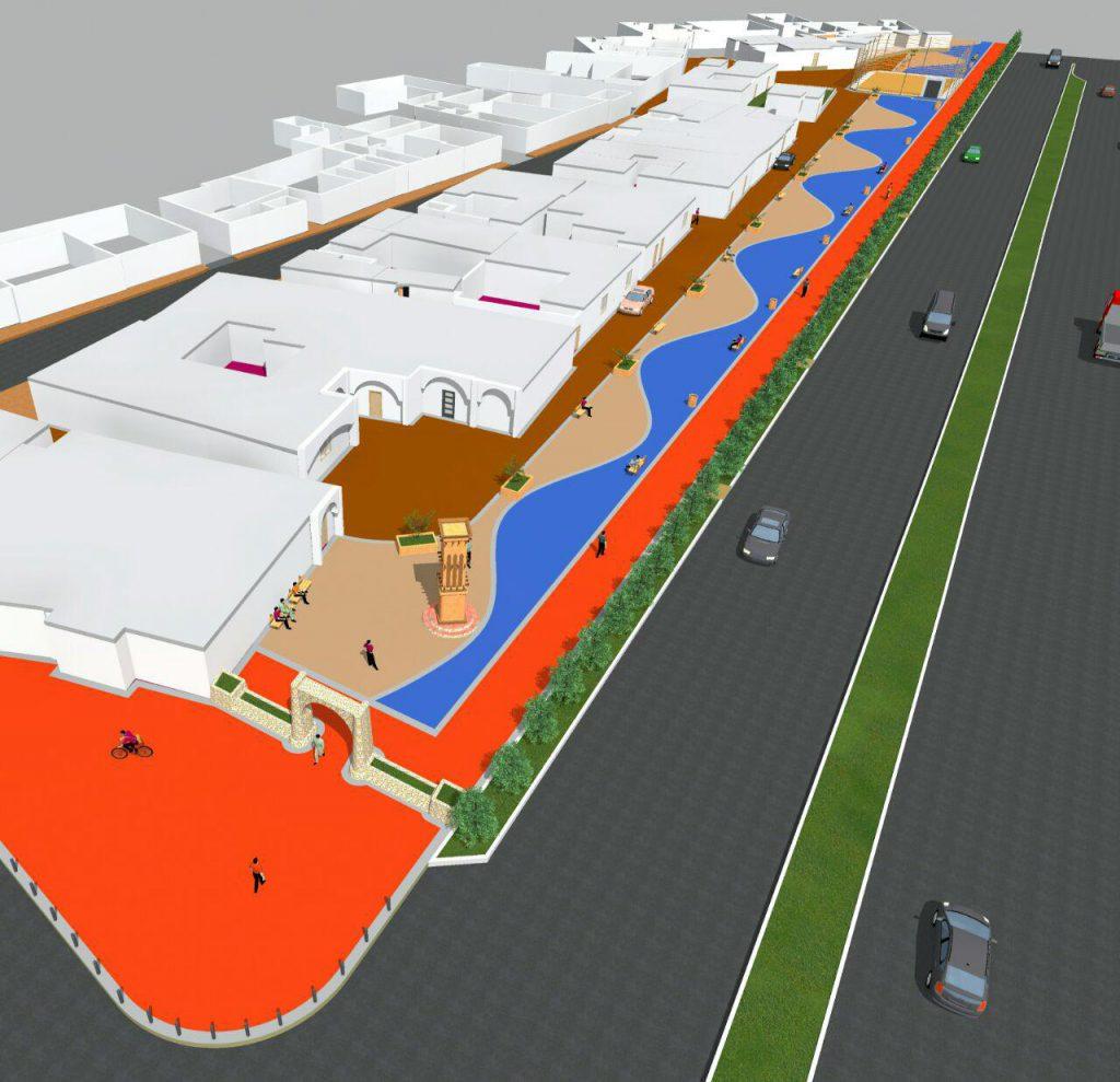 طرح و اجرای پارک و پیاده رو در جزیره قشم